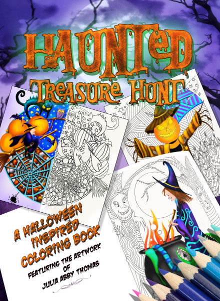 Haunted Treasure Hunt: A Halloween Inspired Coloring Book (Color Quest Series) (Volume 1)